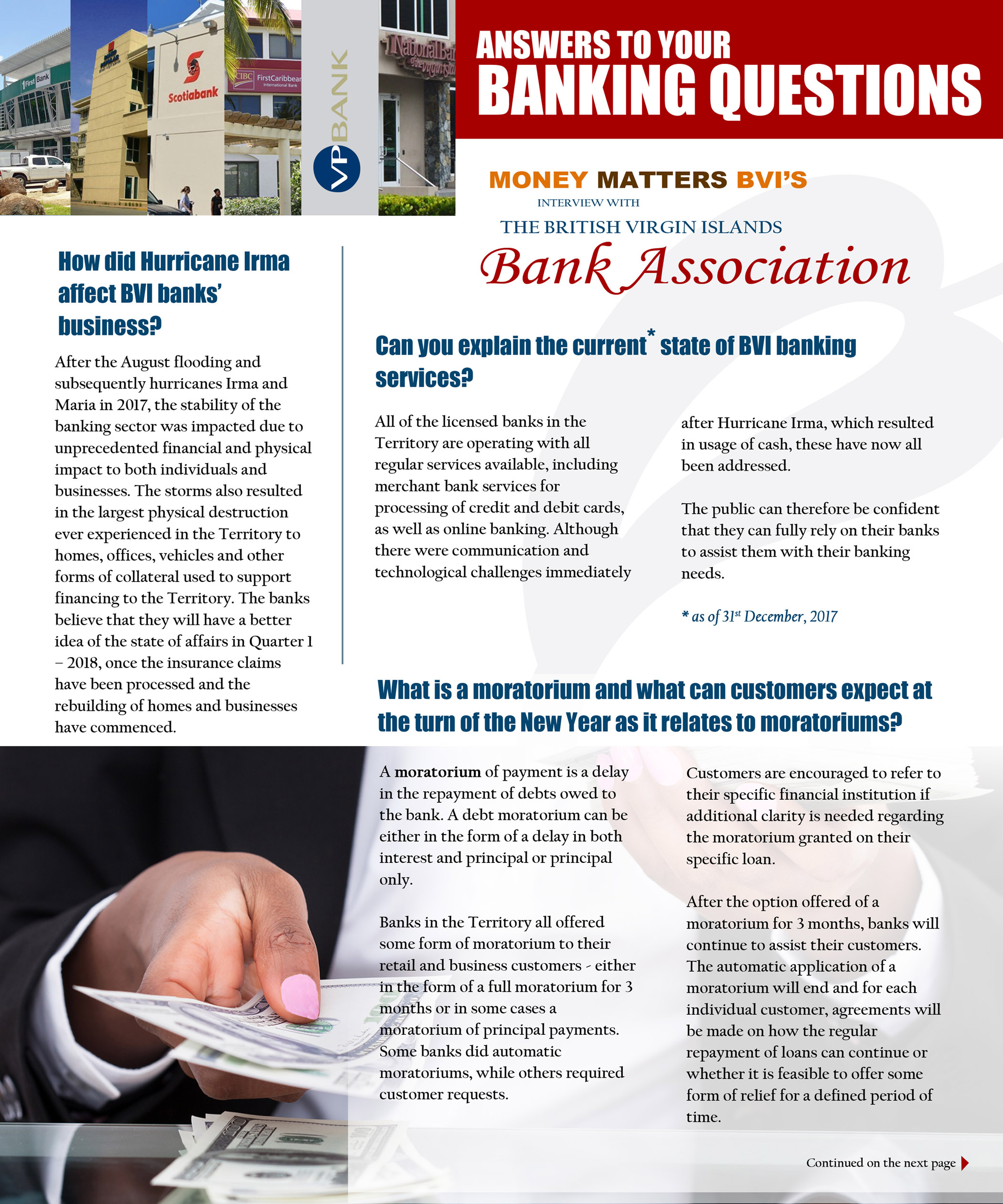 Answers to Your Banking Questions > Money Matters BVI